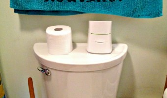 Keeping Bums Clean with a Bathroom Routine