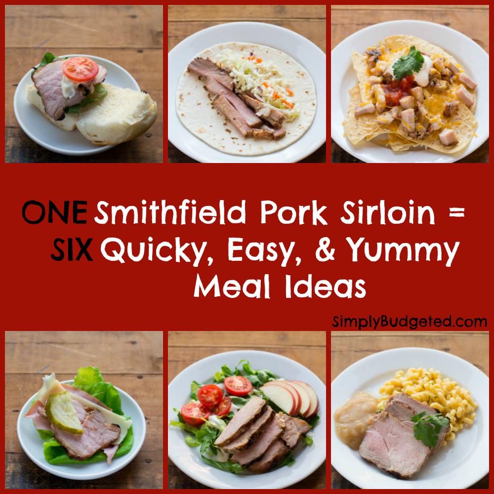Smithfield Pork Sirloin Collage