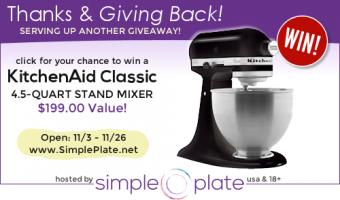Giveaway: KitchenAid Classic 4.5 quart Stand Mixer
