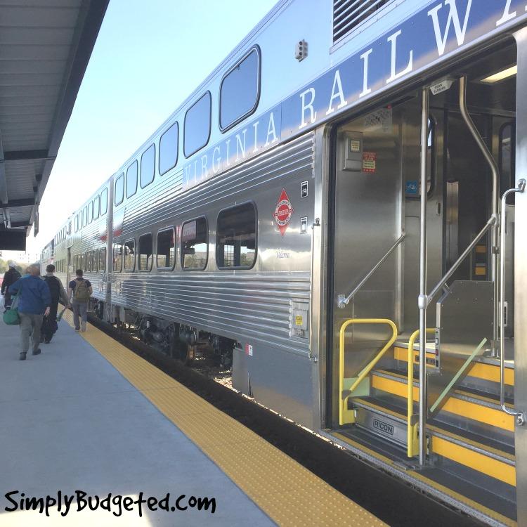 VRE train cars