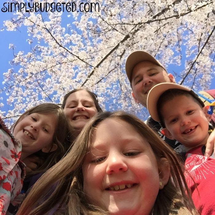 Family Selfie Cherry Blossoms 2016